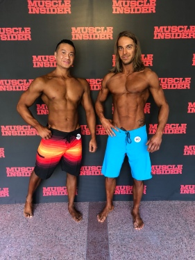 Fedel Clarke Classic2018 - Me and Jesse nowhere near ready. Great time and fun during a physique competition